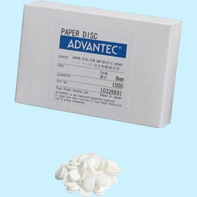 Advantec Paper Disc for Antibiotic Assay Thin 8 mm Cat. 49005020