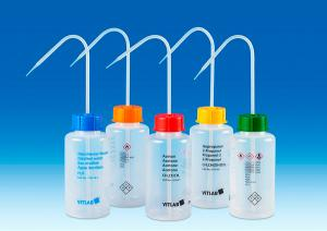Vitlab 1352819 VITsafe™ safety wash bottles Vol 500 ml for Distilled Water