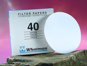 Whatman 1440-125 Grade 40 Circles, 125mm 100/pk