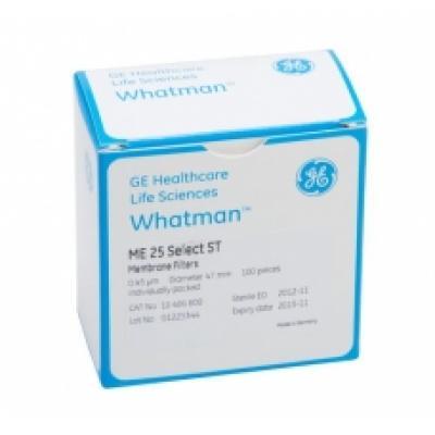 Whatman 7184-002 Membrane Circles, Cellulose Nitrate, White Plain, 0.45µm 25mm 100/pk