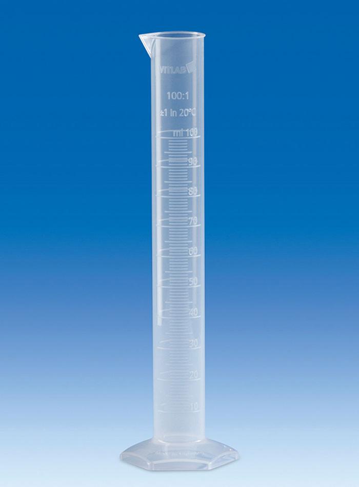 Vitlab 647941 Measuring Cylinder PP Class B Vol 25 ml