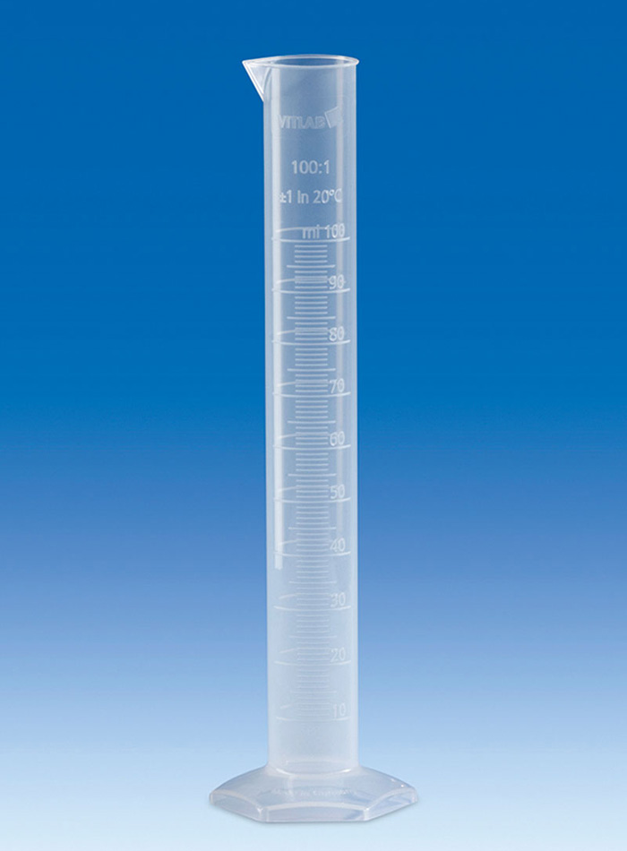 Vitlab 650941 Measuring Cylinder PP Class B Vol 250 ml